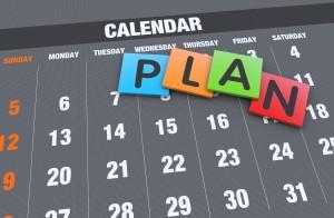 calendar with plan