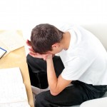 student frustrated studying for exam