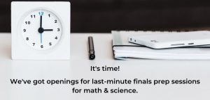 finals tutoring last minute